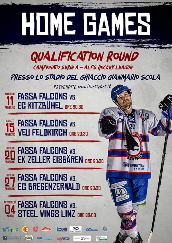 HOME GAMES QUALIFICATION ROUND Campionato Serie A ALPS HOCKEY LEAGUE