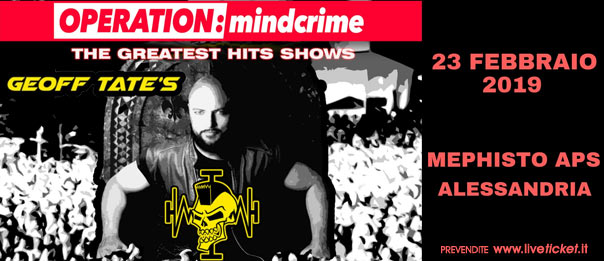 Geoff Tate - Operation: Mindcrime - The Greatest hits show