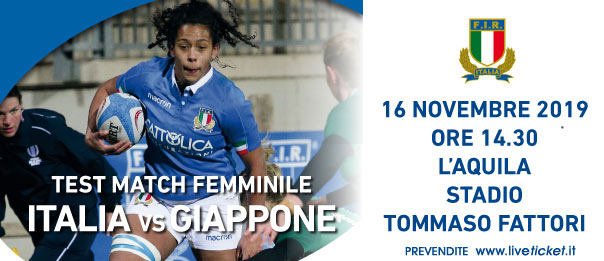 ITALIA vs GIAPPONE Rugby test match