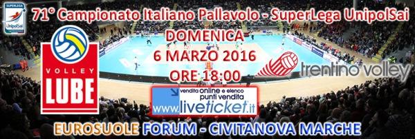 Biglietti Cucine Lube Banca Marche vs Trentino